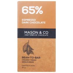 65% Espresso Dark Chocolate 60 gms (Vegan)