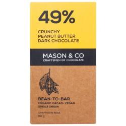 49% Crunchy Peanut Butter Dark Chocolate 60 gms (V