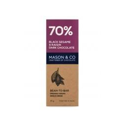 70% Black Sesame and Raisin Dark Chocolate 35 gms