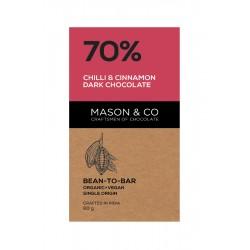 70% Chilli and Cinnamon Dark Chocolate 60 gms (Veg