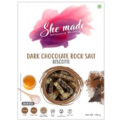 Dark Chocolate  Rock Salt Biscotti 150 gms (Gluten