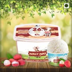 Litchi Ice Cream Tub 450 gms