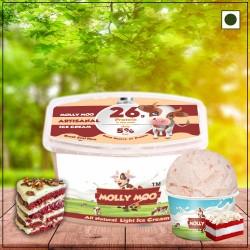 Red Velvet Ice Cream Tub 450 gms