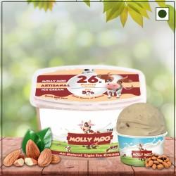 Roasted Almond Ice Cream Tub (Vegan) 450 gms