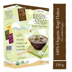 Organic Ragi Flakes 150 gms (Gluten-Free)