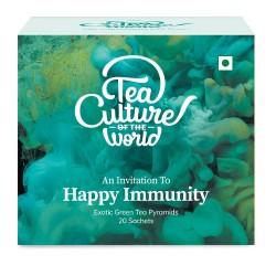 Happy Immunity Exotic Green Tea Pyramids 20 Sachet
