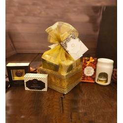 Golden Organza Gift Basket