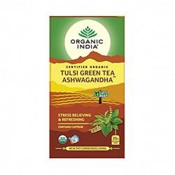 Organic Tulsi Green Tea Ashwagandha 25 Infusion Ba