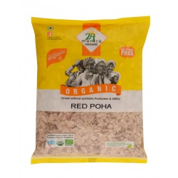 Organic Flattened Rice (Red Poha) 500 gms (Gluten-
