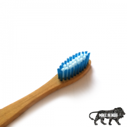 Bamboo Toothbrush Standard Blue (Adult)