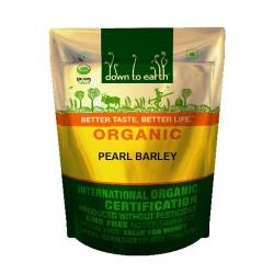 Organic Pearl Barley (Jau) Whole 500 gms