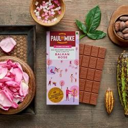 64% Mild Dark Chocolate Balkan Rose 68 gms