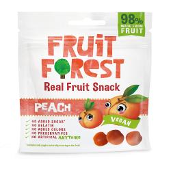Real Fruit Gummy Peach Flavour 30 gms (Vegan)