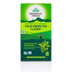 Organic Tulsi Green Tea Classic 25 Infusion Bags