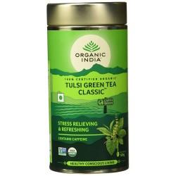 Organic Tulsi Green Tea Classic 100 gms (Tin)