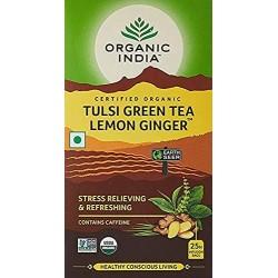 Organic Tulsi Green Tea Lemon Ginger 25 Infusion B