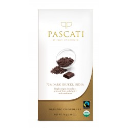 72% Dark Idukki Single Origin Organic Chocolate 75