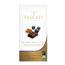 Blueberry and Walnut Dark Organic Chocolate 75 gms