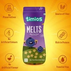Melts Whole Grain Snack Flavoured with Blueberry 50 gms