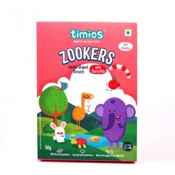 Zookers Animal Shaped Biscuits with Cherry Bits 150 gms