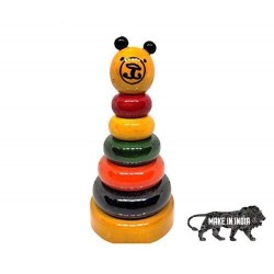 Bear Stacker Rainbow Colored, Wooden Stacking Toy