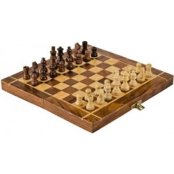 Wooden Handcrafted Chess Set Travel Board Game for