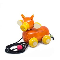 Wooden Ox Car for Kids