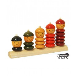 Wooden Pepe Set Peppy Five Multicolor Toy for Kids