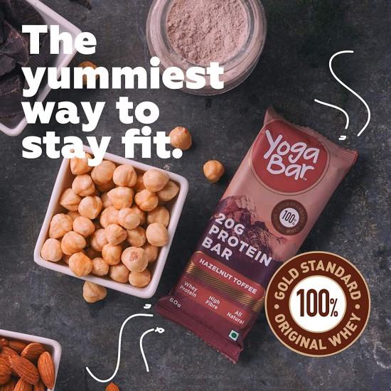20 Gram Protein Hazelnut Toffee Bar 60 gms