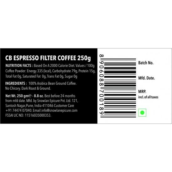 Espresso Filter Coffee 250gms