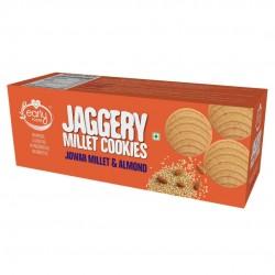 Jowar Millet and Almond Jaggery Cookies 150 gms (G