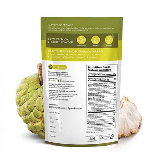 Freeze Dried Custard Apple Powder 200 gms (Gluten-Free, Vegan)