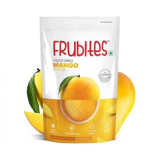 Freeze Dried Mango Powder 200 gms (Gluten-Free, Vegan)