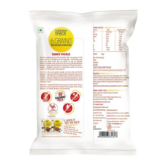 6 Grain Stix Tangy Pickle 25 gms (Gluten-Free, Roasted)