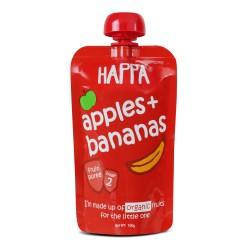 Organic Fruit Puree Apple + Bananas 100 gms