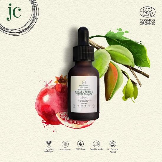 100% Organic Kakadu Plum and Pomegranate Anti-Ageing Vitamin C Rich Facial Oil 10 ml (Vegan)