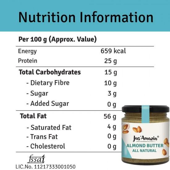 Almond Butter All Natural 200 gms (Vegan)
