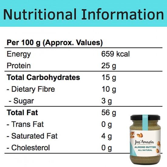 Almond Butter All Natural 125 gms (Gluten-Free, Vegan)