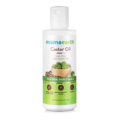 100% Pure Castor Oil, Cold Pressed To Support Hair