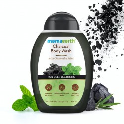 Charcoal Body Wash with Charcoal and Mint for Deep Cleansing 300 ml