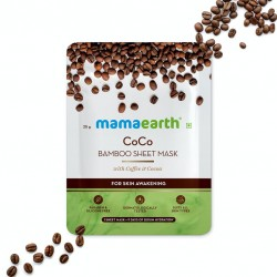 CoCo Bamboo Sheet Mask with Coffee and Cocoa for Skin Awakening  25 g