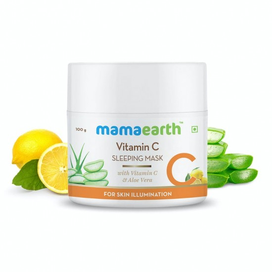 Vitamin C Sleeping Mask with Aloevera for Skin 100 gms