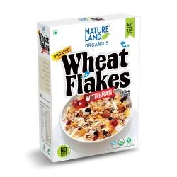 Organic Wheat Flakes with Bran 250 gms