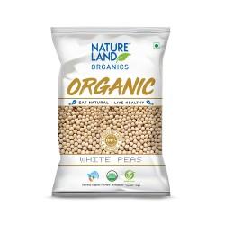 Organic Dried White Peas (Vatana) 500 gms