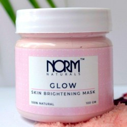 Natural Glow Rose Clay Face Mask for Skin Brighten