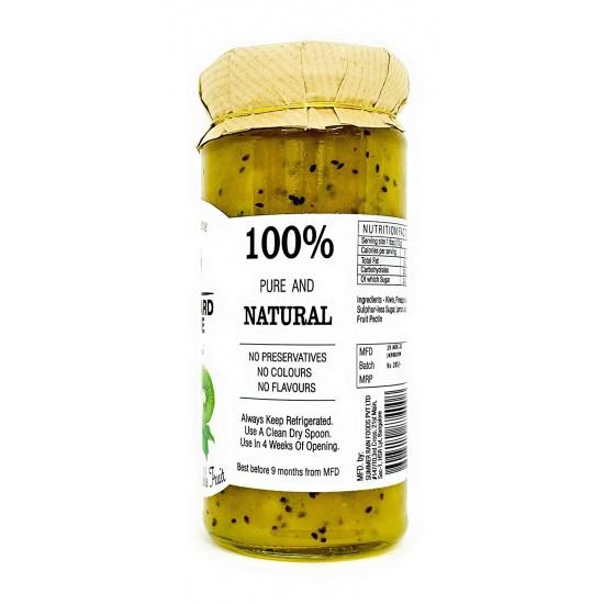 80% Fruit Kiwi Jam (Gluten Free,Vegan,100% Natural, No Chemicals, Low Sugar) 280 gms