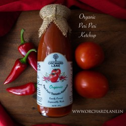 Organic Peri Peri Tomato Ketchup (No Chemicals Or