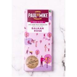 57% Dark Milk Chocolate Balkan Rose 68 gms