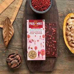 64% Mild Dark Amazonian Pink Pepper Chocolate (Veg