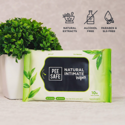 Natural Intimate Wipes Pack of 10